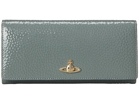 Vivienne Westwood - Pebbled Leather Wallet (Green) Wallet Handbags