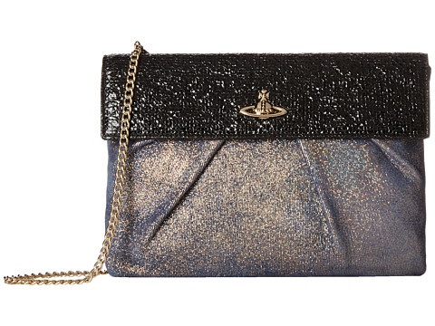Vivienne Westwood - Metallic Chain Strap Evening Bag (Gold) Evening Handbags