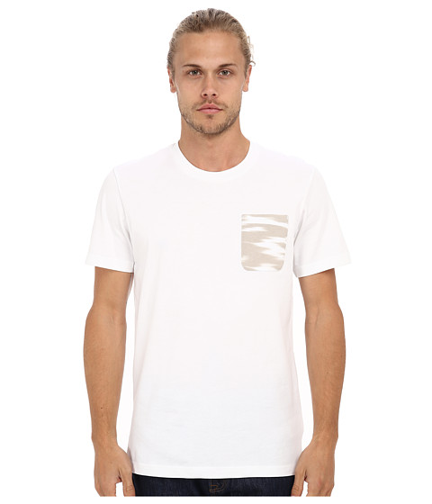 adidas Originals - Camo Sky Pocket Tee (White/Pearl Grey) Men