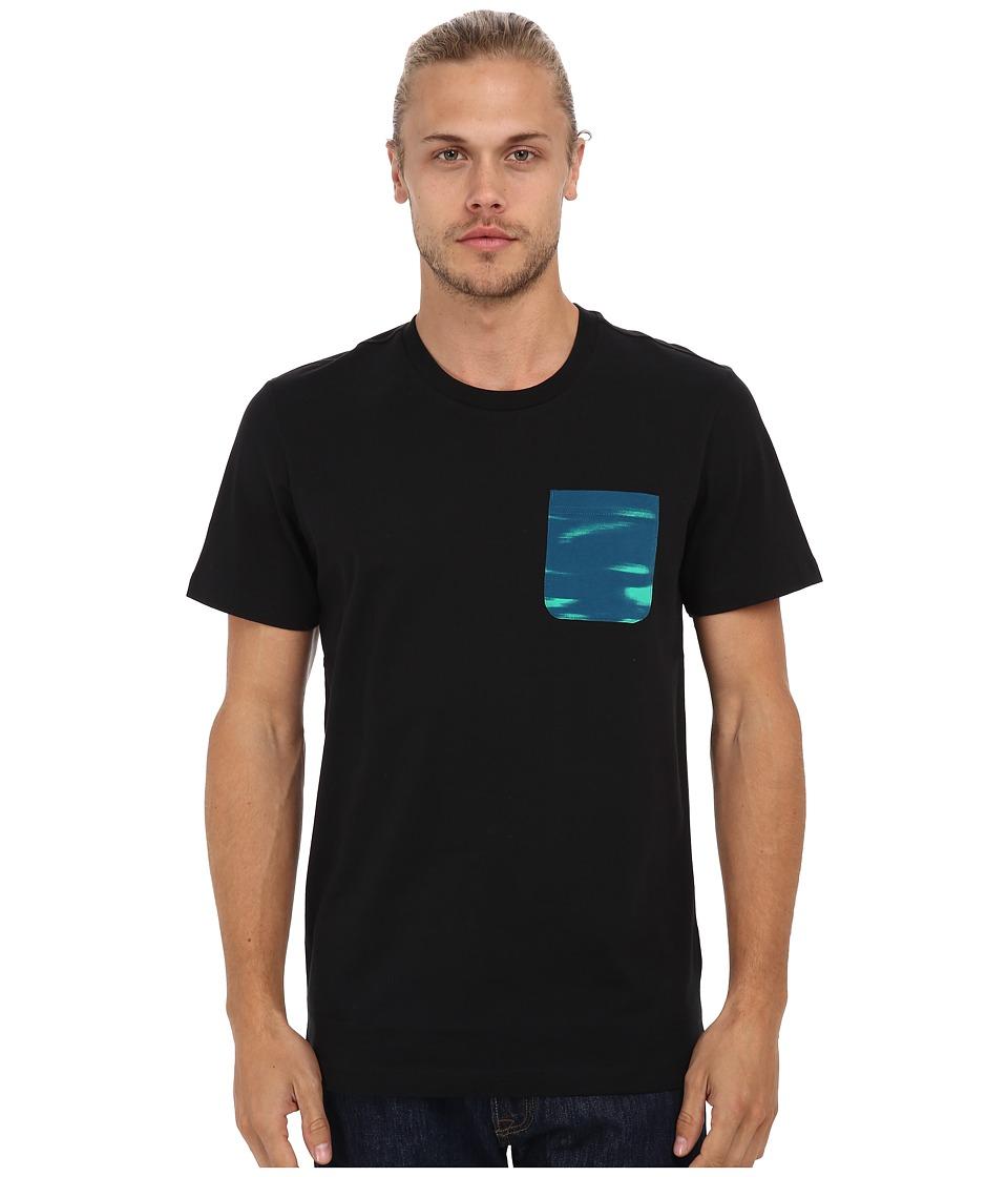 adidas Originals - Camo Sky Pocket Tee (Black/Surf Petrol) Men