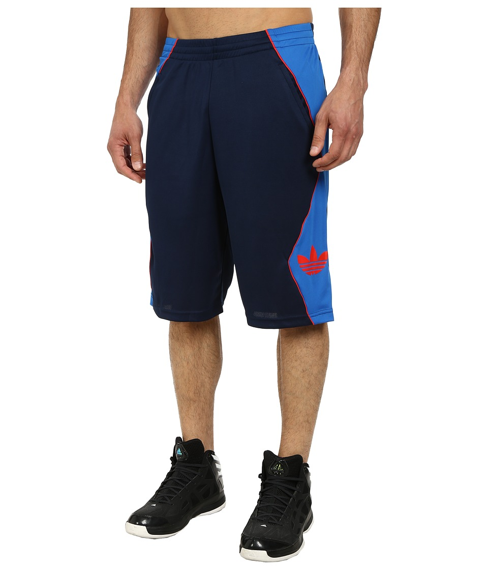 adidas Originals - Originals Hoop Short (Collegiate Navy/Bluebird/Red) Men