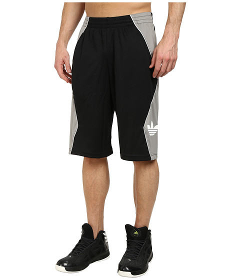 adidas Originals - Originals Hoop Short (Black/Light Grey/White) Men