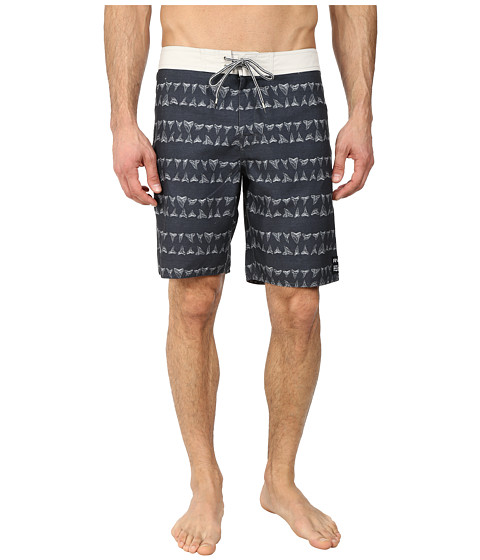 RVCA - Horton Biter Trunk (Black) Men's Swimwear