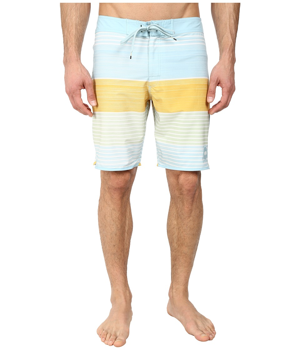 RVCA - Sunday Stripe 19 Trunk (Ether Blue) Men's Swimwear