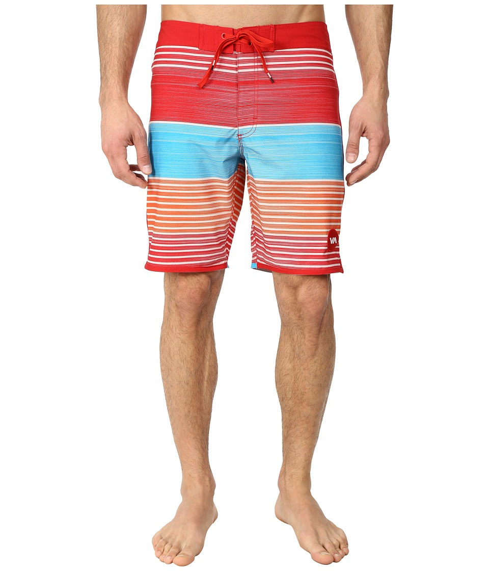 RVCA - Sunday Stripe 19 Trunk (Mars) Men's Swimwear