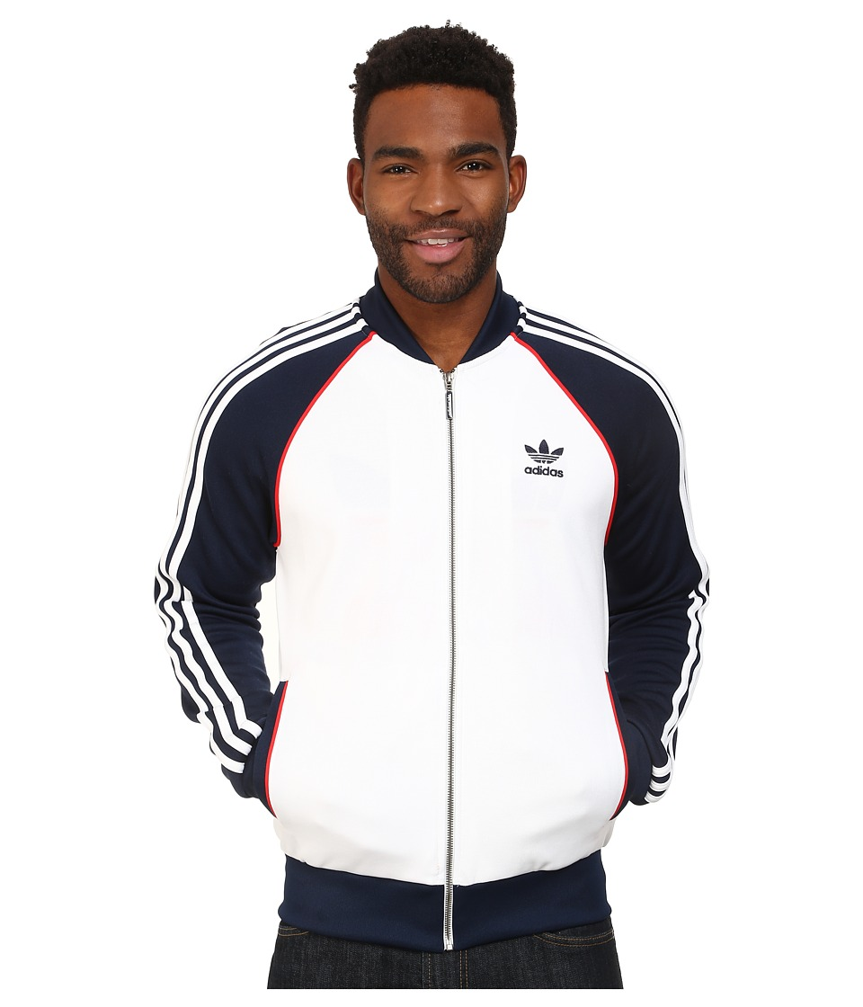 adidas Originals - SST Track Top (White/Collegiate Navy/Red) Men's Sweatshirt