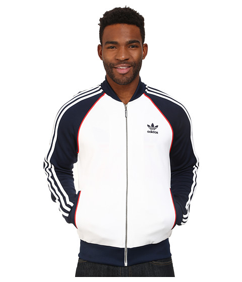 adidas Originals - SST Track Top (White/Collegiate Navy/Red) Men
