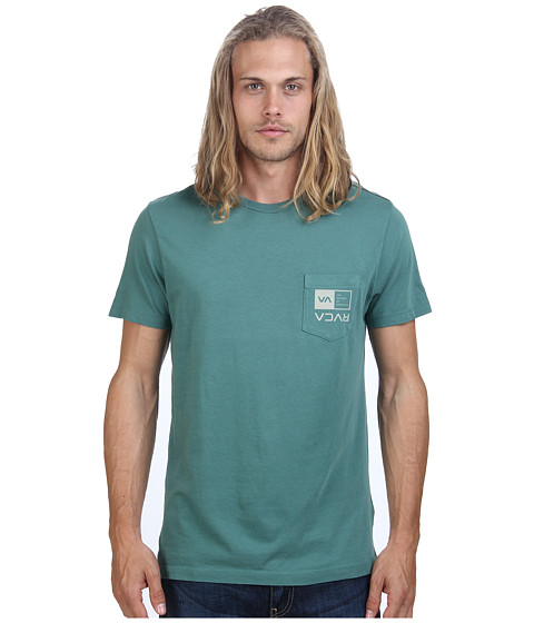 RVCA - Flipped Box Pocket Tee (Spruce) Men's Short Sleeve Pullover