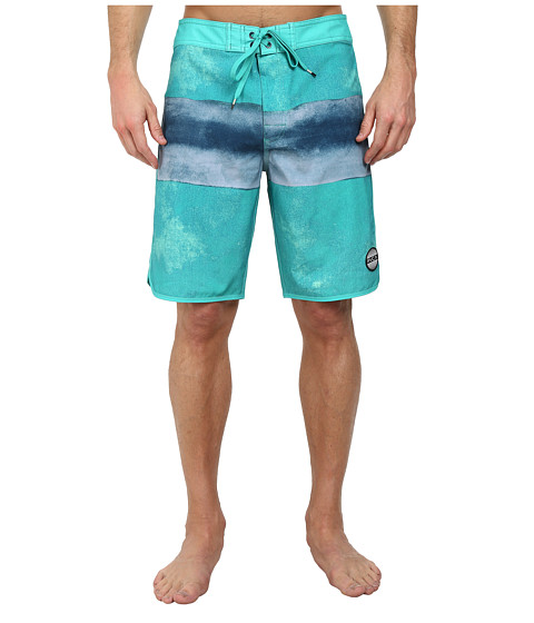 RVCA - Solo Stripe Trunk (Bright Green) Men's Swimwear