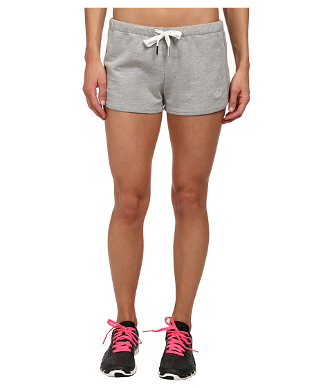 adidas Originals - French Terry Slim Short (Medium Grey Heather) Women