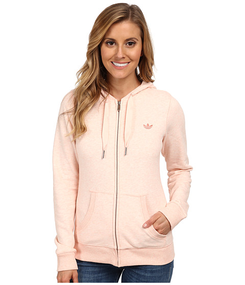 adidas Originals - French Terry Slim Zip Hoodie (Blush Pink Melange) Women