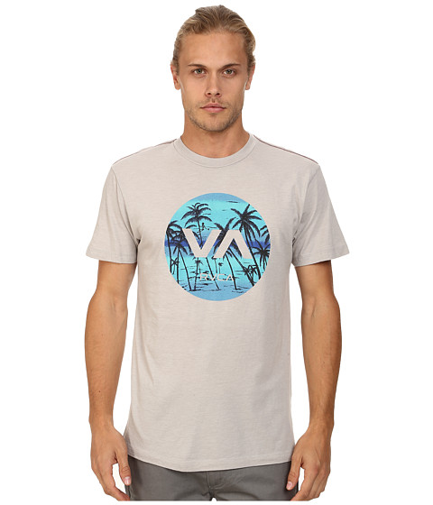 RVCA - Deadmans Bay Tee (Cool Gray) Men