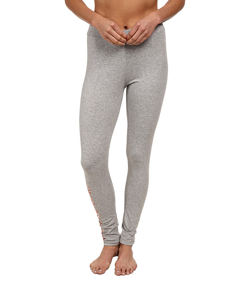 adidas Originals - Trefoil Cotton Jersey Legging (Medium Grey Heather/Vista Pink) Women