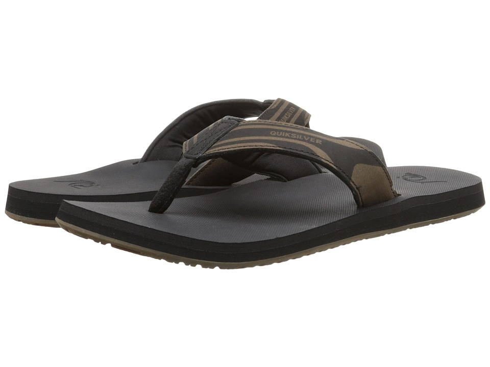 Quiksilver - Monkey Oasis (Black/Black/Brown) Men