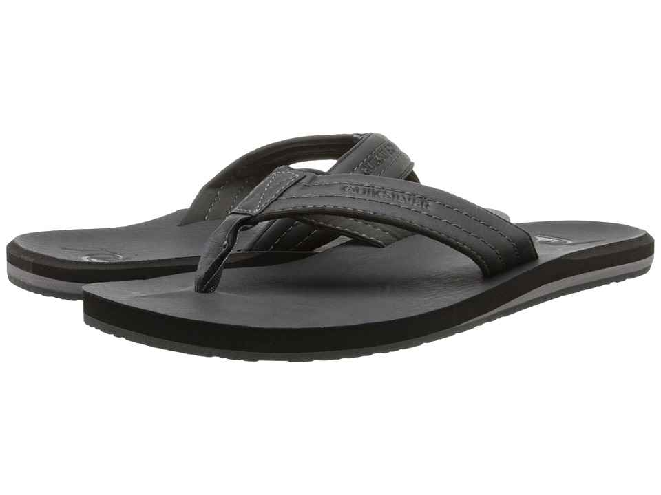 Quiksilver - Carver Nubuck (Gray/Solid) Men's Sandals