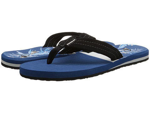 Quiksilver - Carver Suede Art (Black/Blue/Blue) Men's Sandals