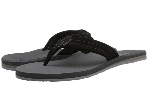 Quiksilver - Carver Suede (Black/Grey/Grey) Men's Sandals