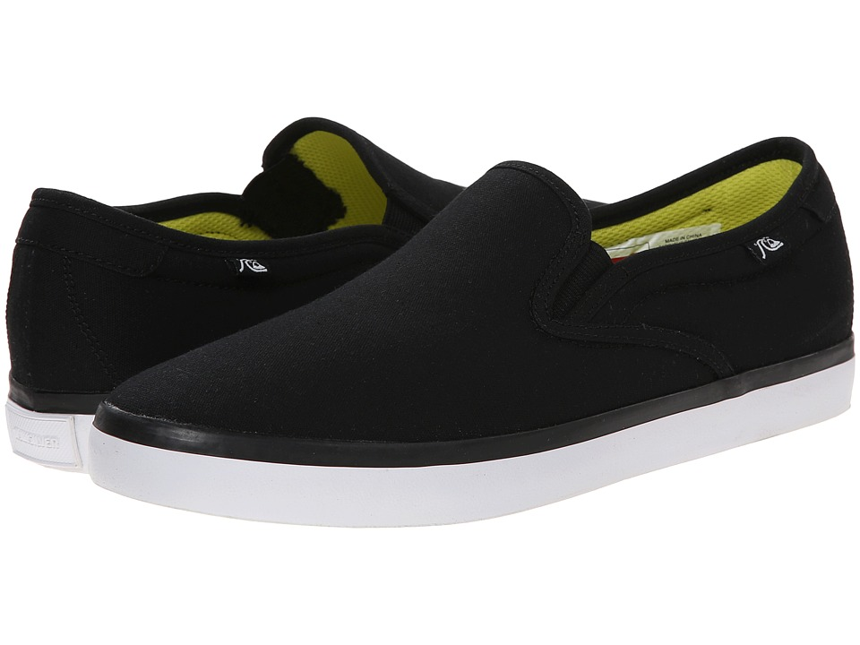 Quiksilver - Compass (Black/Black/White Multi Snake) Men's Shoes