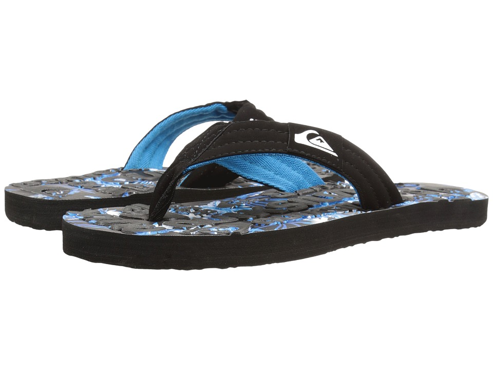 Quiksilver - Basis Embossed (Black/Blue/Grey) Men's Sandals