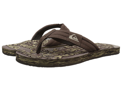Quiksilver - Basis Embossed (Brown/Green/Black) Men's Sandals