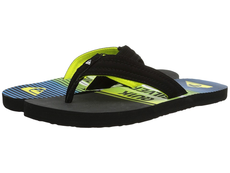 Quiksilver - Basis (Grey/Green/Blue) Men's Sandals