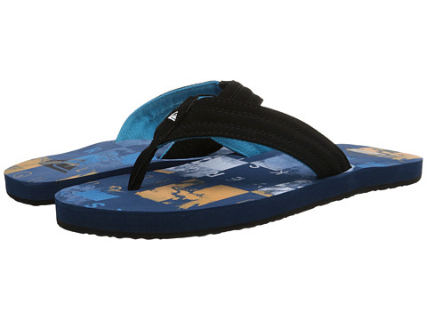 Quiksilver - Basis (Blue/Blue/Orange) Men's Sandals
