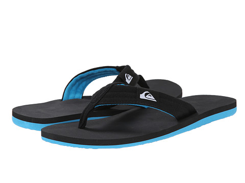 Quiksilver - Molokai Layback (Black/Black/Blue) Men's Sandals