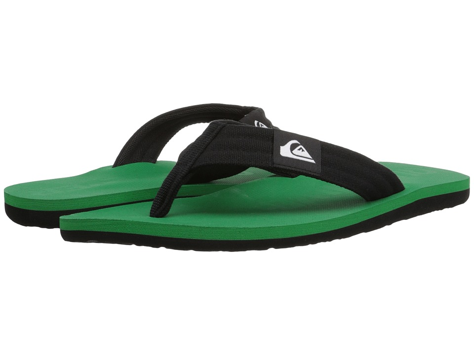 Quiksilver - Molokai Layback (Black/Green/Green) Men's Sandals