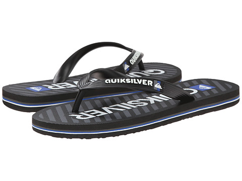 Quiksilver - Molokai Wordmark (Black/Grey/White) Men