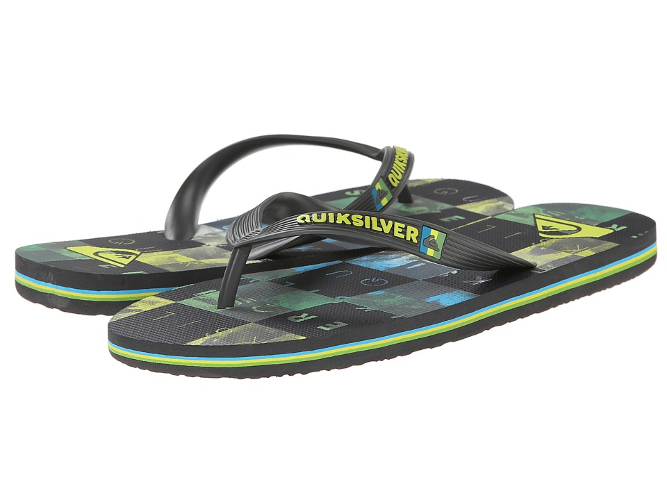 Quiksilver - Molokai Check Wreck (Grey/Green/Blue) Men's Sandals
