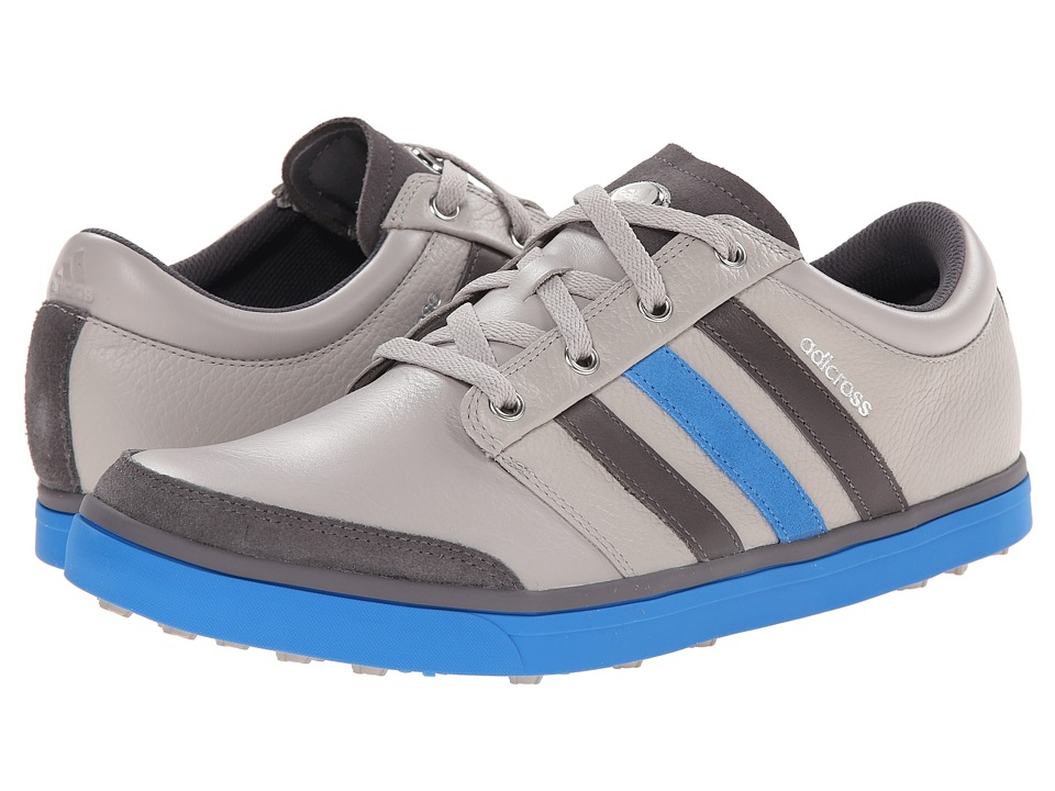 adidas Golf - adicross Gripmore (Clear Granite/Granite/Bright Blue) Men's Golf Shoes