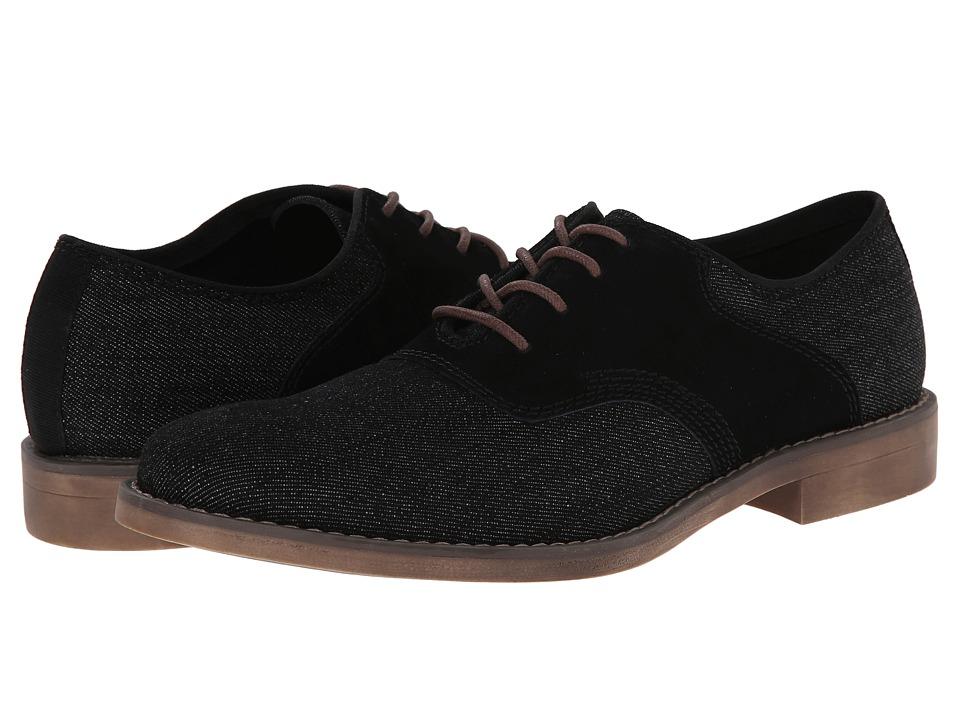 Calvin Klein Jeans - Oris (Black Denim/Black Suede) Men's Lace Up Cap Toe Shoes
