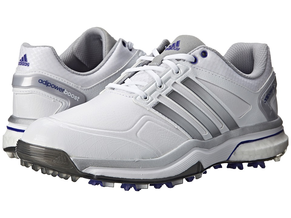 adidas Golf - adiPower Boost (Running White/Silver Metallic/Flash Purple) Women's Golf Shoes