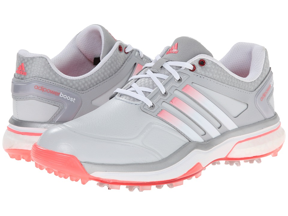 adidas Golf - adiPower Boost (Clear Grey/Running White/Flash Red) Women's Golf Shoes