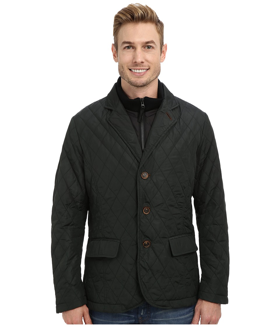 Rainforest - Waxed Nylon Quilt Blazer w/ Bib (Hunter) Men