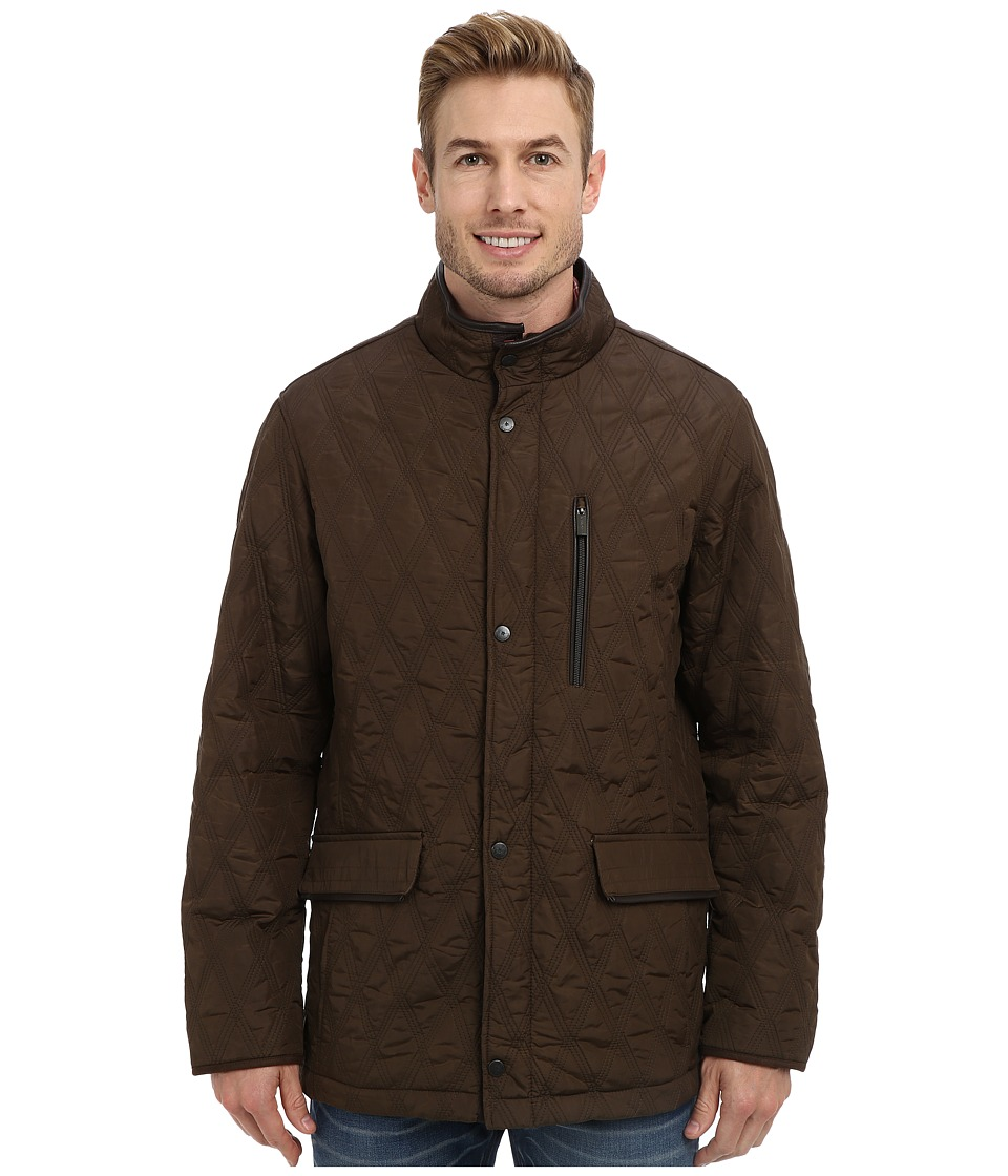 Rainforest - Waxed Nylon Quilted Hipster (Curry) Men's Coat