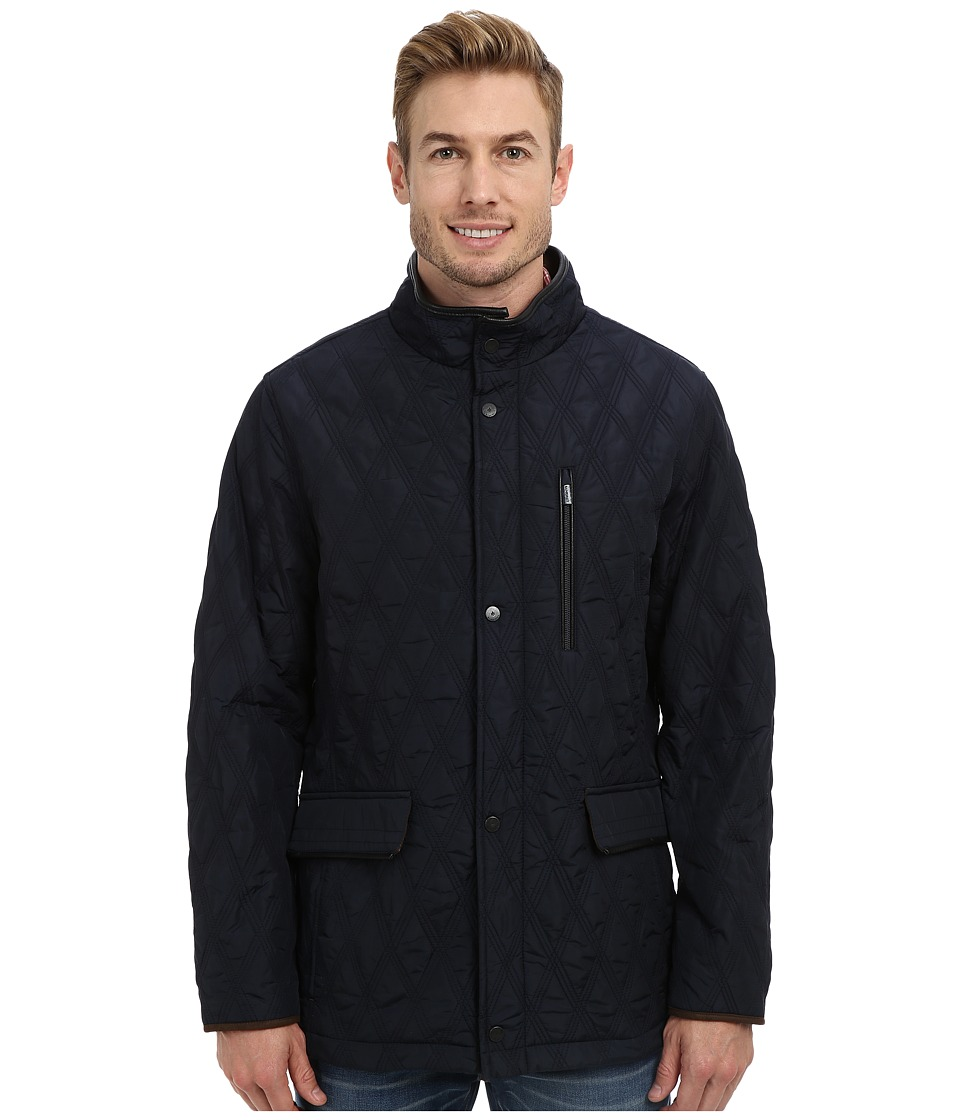 Rainforest - Waxed Nylon Quilted Hipster (Navy) Men's Coat