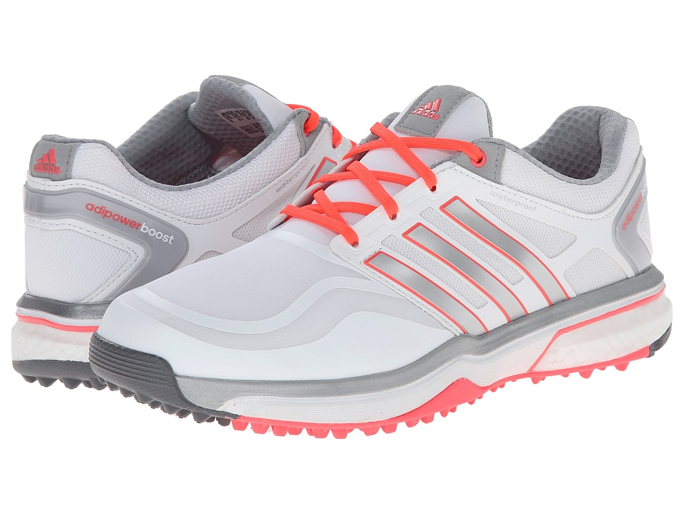 adidas Golf - adiPower Sport Boost (Running White/Metallic Silver/Flash Red) Women's Golf Shoes