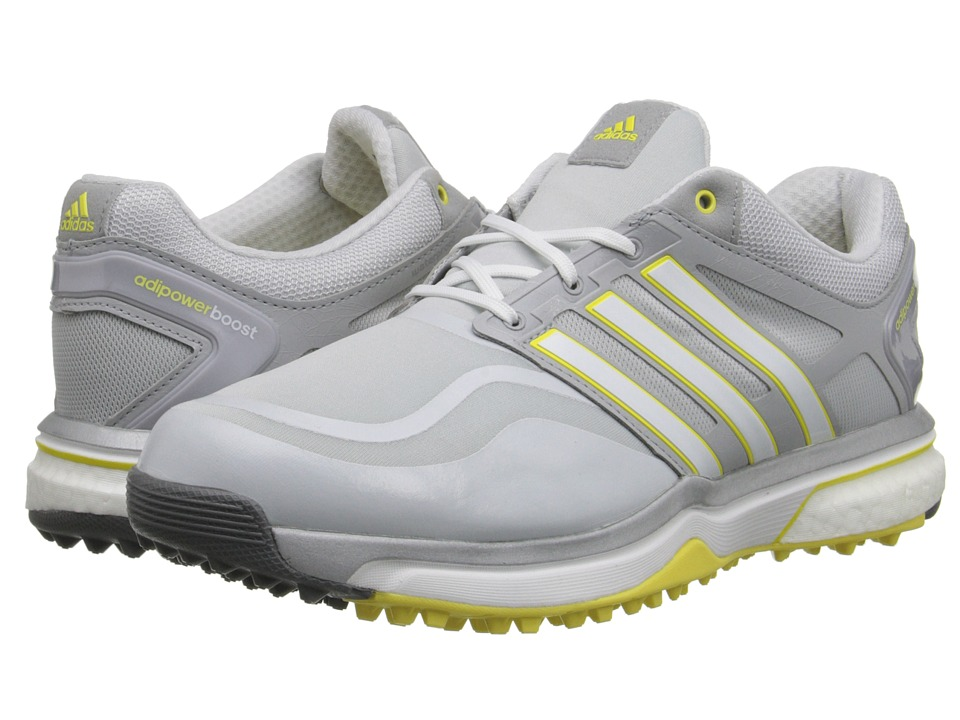 adidas Golf - adiPower Sport Boost (Clear Grey/Running White/Light Yellow) Women's Golf Shoes