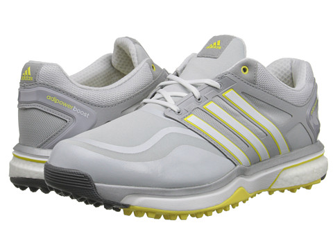 adidas Golf - adiPower Sport Boost (Clear Grey/Running White/Light Yellow) Women