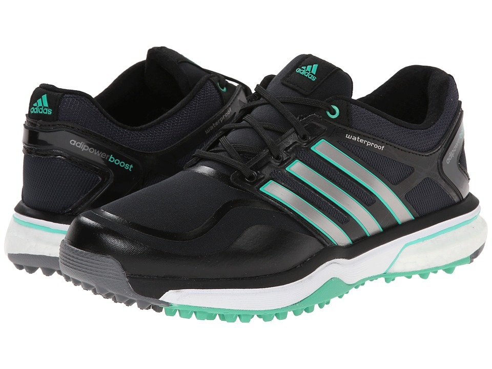 adidas Golf - adiPower Sport Boost (Black/Dark Silver Metallic/Bright Green) Women's Golf Shoes