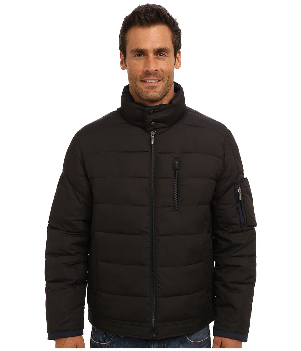 Rainforest - Poly Cire Quilted Bomber (Black) Men's Coat