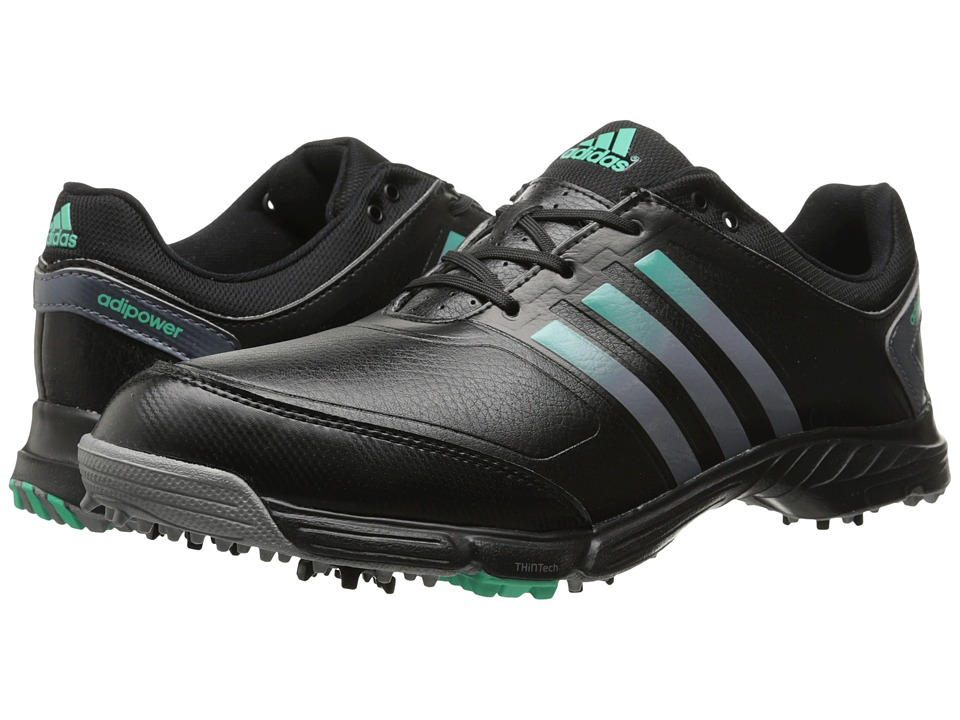 adidas Golf - adiPower TR (Core Black/Onix/Bright Green) Women's Golf Shoes
