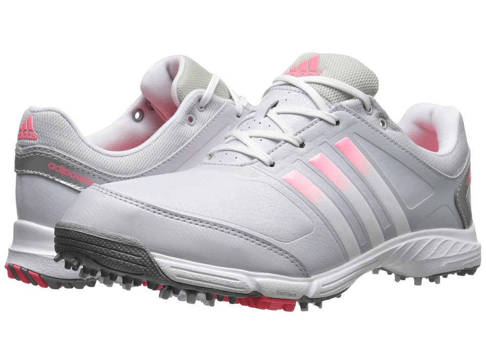 adidas Golf - adiPower TR (Clear Grey/Running White/Flash Red) Women's Golf Shoes