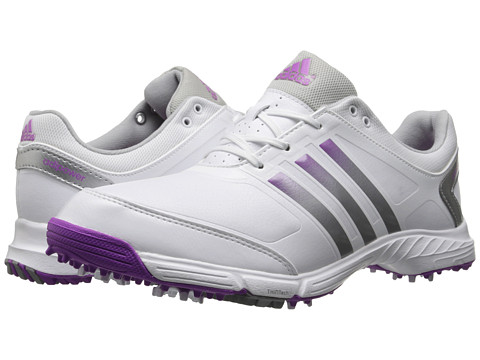 adidas Golf - adiPower TR (Running White/Silver Metallic/Flash Pink) Women's Golf Shoes