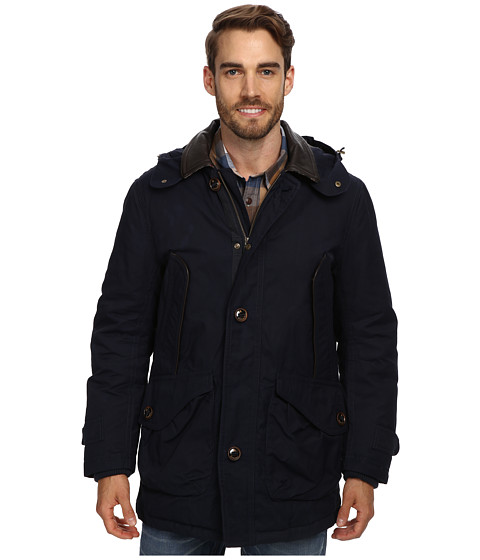 Rainforest - Waxed Cotton Nylon Parka (Midnight) Men's Coat