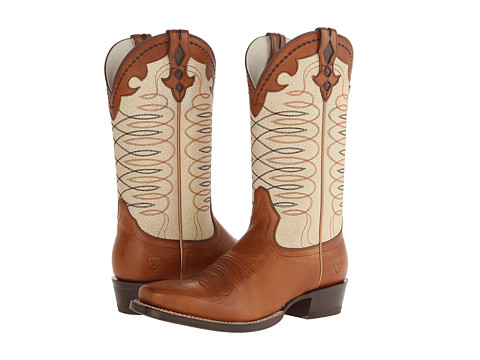Ariat - Amelia (Brandy/Antique Cream) Cowboy Boots