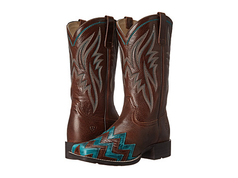 Ariat - On Point (Brush Country Brown) Cowboy Boots