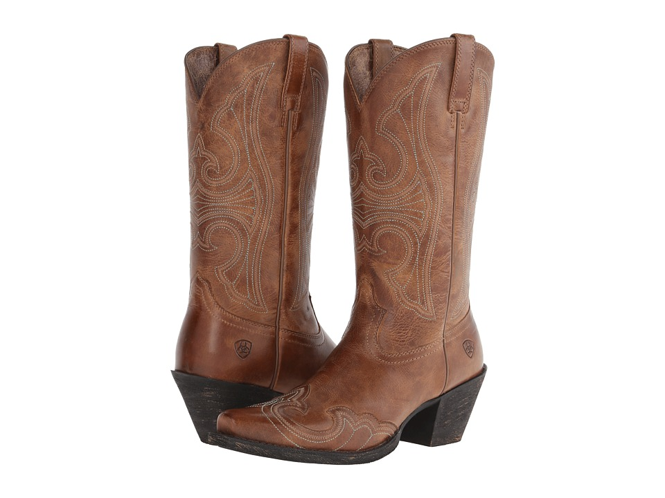 Ariat - Round Up D Toe Wingtip (Sandstorm) Cowboy Boots