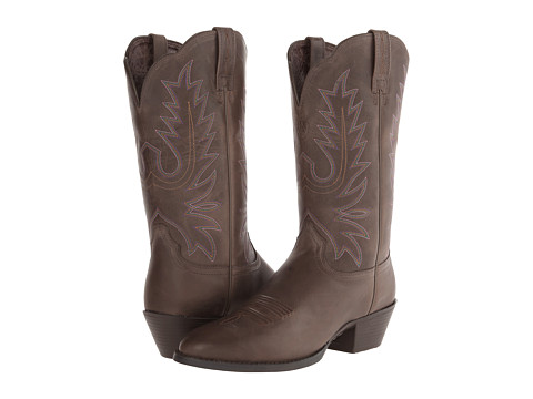 Ariat - Heritage Western R Toe (Chocolate) Women